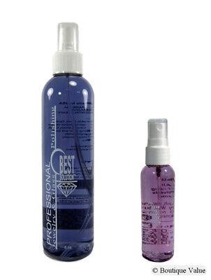 BEST SOLUTION Jewelry Cleaner 8oz Spray Bottle with 2oz Travel Spray (Cleaner 8 Oz Spray Bottle)