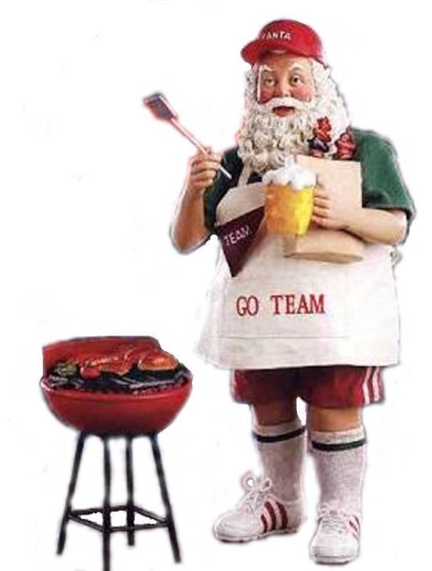 RETIRED 2008 KURT ADLER FABRICHE *Hurray for Santa Claus* SANTA TAILGATES, NIB