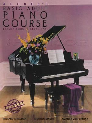 Alfred's Basic Adult Piano Course Lesson Level 1 Music Book Learn How To Play