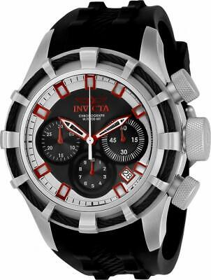 Invicta Bolt 22146 Men's Round Chronograph Date Analog Black Silicone Watch
