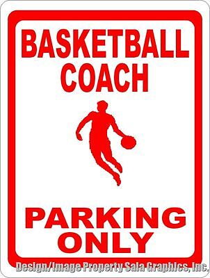 Basketball Locker Decorations (Basketball Coach Parking Only Sign. Size Options. Gym Decor Coaches Locker Room)