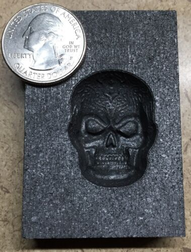 3D Graphite Mold for metal and glass casting. (Small) Celtic Skull