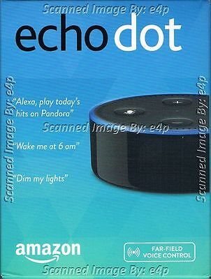 Amazon Echo Dot 2 Voice Controlled Hands Free Wi Fi Bluetooth New Factory Sealed