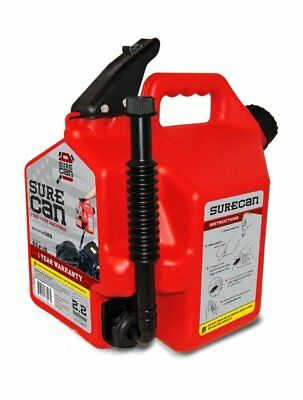 Surecan 2.2-gallon Red Plastic Gasoline Fuel Can