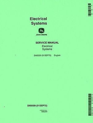 John Deere Electrical Service Manual A B D G M R 40 Thru 840