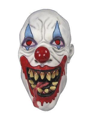 DEMON Killer Clown Scary Soft Rubber Latex Costume MASK (Demon Clown Mask)