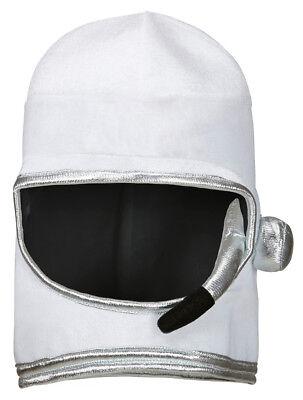 Weicher Astronauten Helm Weltall Kostüm Space Mütze Weiß Silber Weltraumfahrer (Silber Weltraum Kostüm)