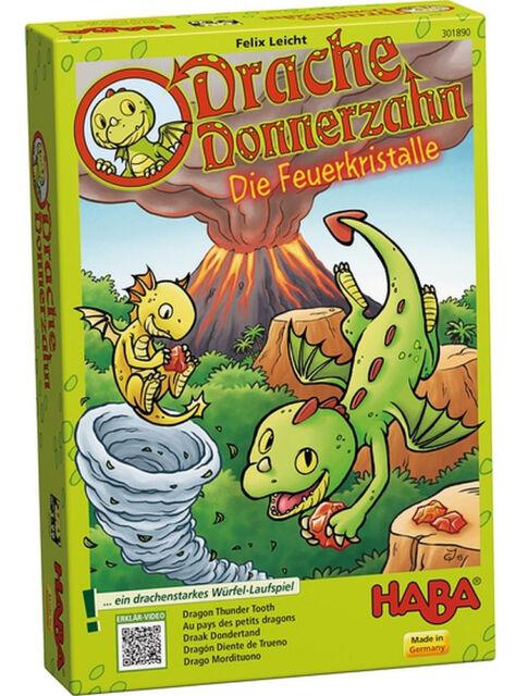HABA 301890 Drache Donnerzahn – Die Feuerkristalle Ab 3 Jahren + BONUS