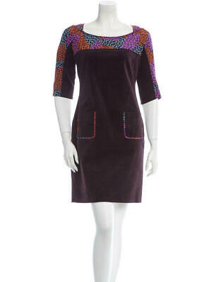 Z Spoke Zac Posen Corduroy Shift Dress Printed Geometric 3/4 Sleeve XS Size 0, used for sale  Henderson