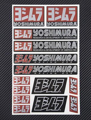 Yoshimura metallic exhaust decal sheet 14 stickers set suzuki gsxr heat proof