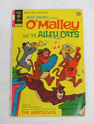 O'MALLEY AND THE ALLEY CATS #4 OCTOBER 1972 BY GOLD KEY COMICS GOOD (2.0)