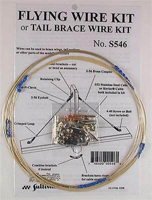 Sullivan Products 546 S546 Rc Airplane Flying Wire Wires Bracing Kit