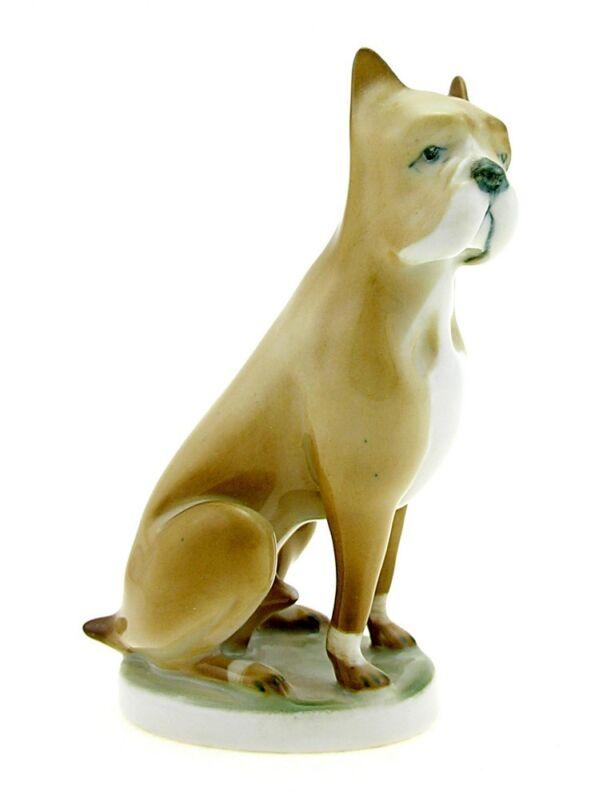 Vintage Zsolnay Boxer Dog Figurine