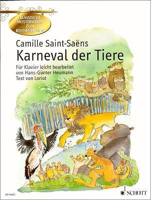 Karneval der Tiere - Klavier Noten - Schott Musik - 9790001115223 - ED8602