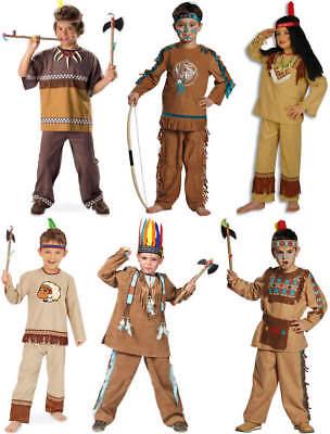 Indianerjunge Indianer Kinder Karneval Kostüm (Kinder Indianer Junge Kostüm)