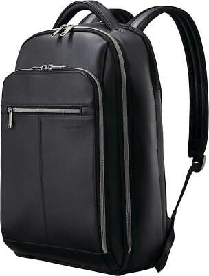 "Samsonite - Classic Leather Backpack for 15.6"" Laptop - Black"