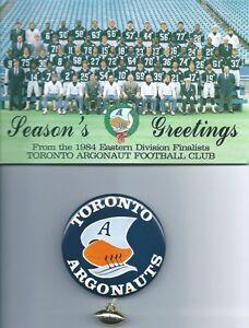 1984 TORONTO ARGO'S Card & Pinback - signed by John Wintermeyer