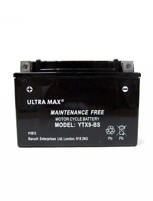 ULTRAMAX AGMGEL UPGRADE BATTERY <em>YAMAHA</em> XJ600S DIVERSION 92 02 YTX9 BS