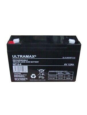 2X ULTRAMAX 6V 12Ah Baterías Nuevas Peg Perego, Feber, Indusa - Eléctrico...