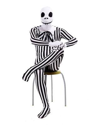 The Nightmare Before Christmas Jack Skellington Zentai Cosplay Costume Halloween