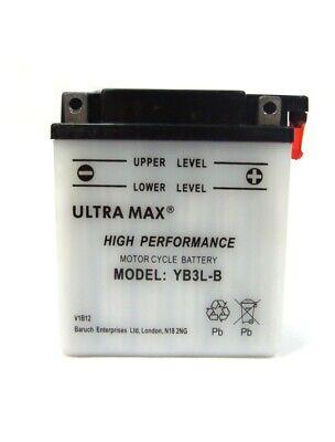 ULTRAMAX BATTERY MOTORBIKE <em>YAMAHA</em> 125 DTR 1988 2002 YB3L B12V 3AH NEW