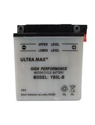 ULTRAMAX YB5L B MOTORCYCLE BATTERY FOR <em>YAMAHA</em> YBR125DX 09   PRESENT