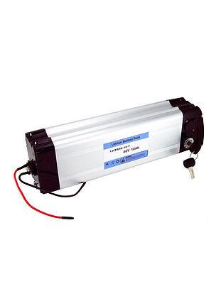 LI-ION Batería para Bicicleta Eléctrica E-Bike 48V 10Ah con Cargador Litio