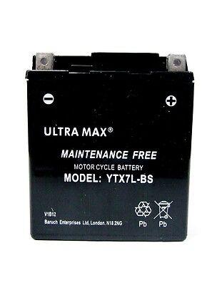 ULTRAMAX MAINTENANCE FREE BATTERY YTX7L BS   <em>YAMAHA</em> YBR125 2007   2009