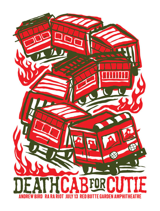 DEATH CAB FOR CUTIE CONCERT GIG POSTER 2009 - NEW