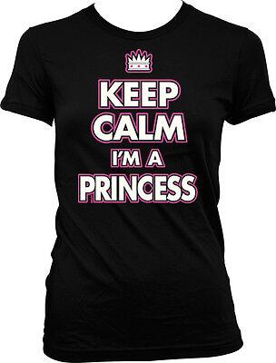 Keep Calm I'm a Princess - Crown Spoiled  Juniors T-shirt - A Princess Crown