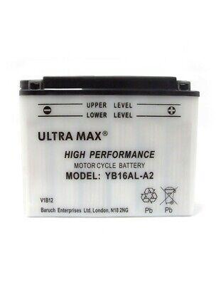 ULTRAMAX YB16AL A2 YB16ALA2 MOTORCYCLE BATTERY <em>YAMAHA</em> XV 750 VIRAGO 81
