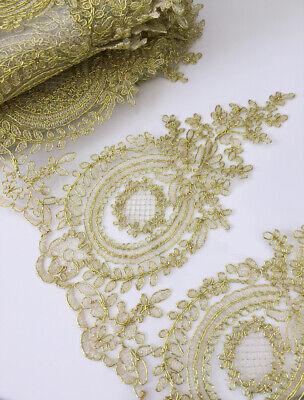 Design Gold Trim (5 Designs! Corded GOLD Trim Bridal Gown Lace Edging Wedding Dress Veil Ribbon)