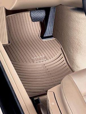 BMW E60 5 Series Genuine OEM All Season Front Floor Mats Beige 82550302998