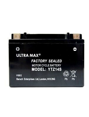 YLTRAMAX YTZ14S EARTHX BATTERY FOR <em>YAMAHA</em> TDM850  REPLACES  YTX12 BS