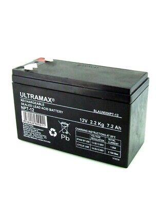 2 (Par) ULTRAMAX 12V 7AH Batería Eléctrica De Navaja Scooter E300,Bolsillo Mod...