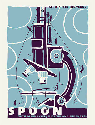 SPOON CONCERT GIG POSTER 2010 - NEW