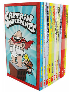 The Adventure of Captain Underpants Children 10 Books Collection Set Dav Pilkey
