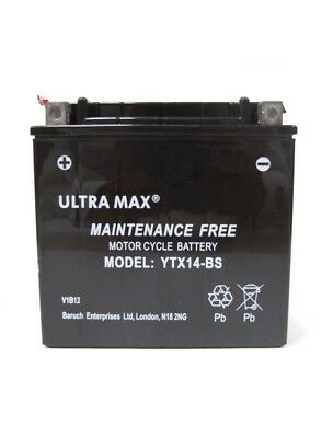 ULTRAMAX YTX14BS BATTERY FOR <em>YAMAHA</em> XJR1300 99 04