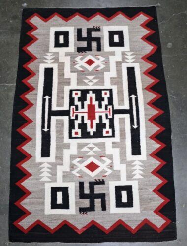 "Navajo Rug; Crystal Storm Pattern; JB Moore Plate XXVIII 78"" x 50"""