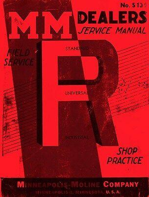 Minneapolis Moline R Rtu Rtc Rtn Rte Tractor Dealer Maintenance Service Manual