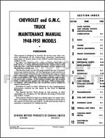 1948 -1951oem  GMC pick up maintenance repair manual 63 year old