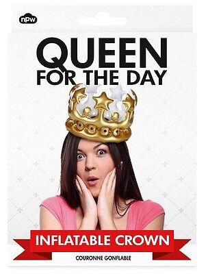 Aufblasbare Krone - Königin für einen Tag, Queen for the day