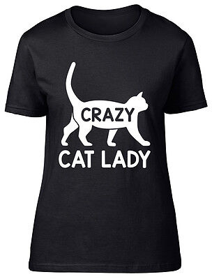 Crazy Cat Lady Shorts (Crazy Cat Lady Womens Ladies Short Sleeve Tee T-Shirt)
