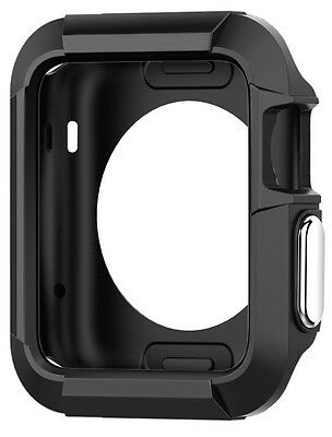Apple Watch Case Cover Protector 42mm iWatch Black Protective Bumper Rugged