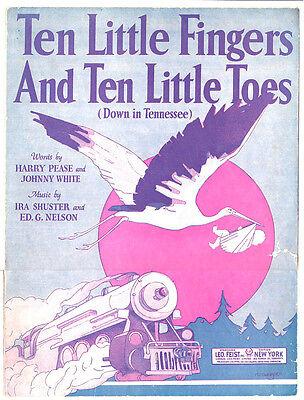 Sheet Music TEN LITTLE FINGERS AND TEN LITTLE TOES 1921