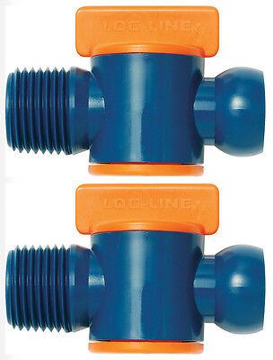2 12 Male Npt Flow Control Valves 12 Loc-line Usa Original System 32092