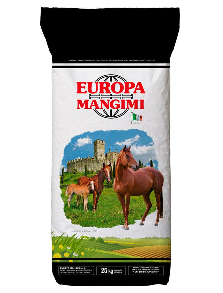 MANGIME COMPLETO PER CAVALLI- HORSE FOOD KG.25 EUROPA MANGIMI