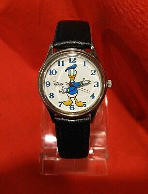 Vintage Disney Time Works DONALD DUCK WATCH WORKING RUNNING
