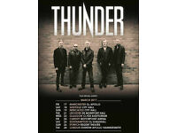 THUNDER 1 x Standing ticket Southampton O2 Guildhall Saturday 25/3/17