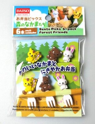 Daiso Kawaii Food Animal Picks for Bento Box Decoration Accessories From Japan